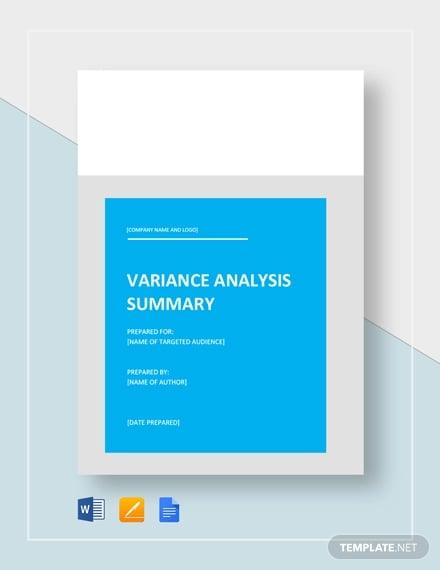 variance analysis template