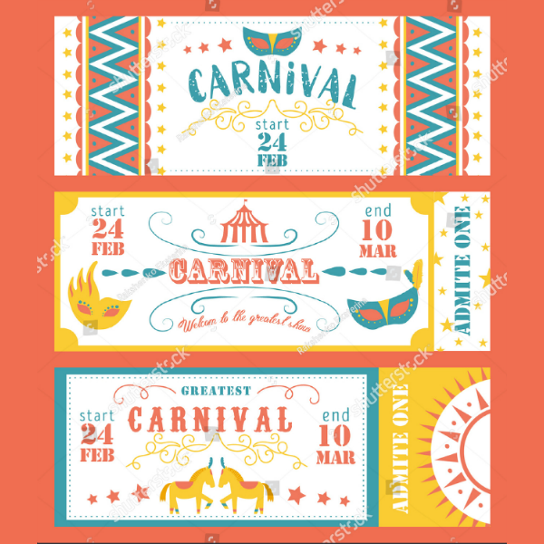 vector carnival event ticket template