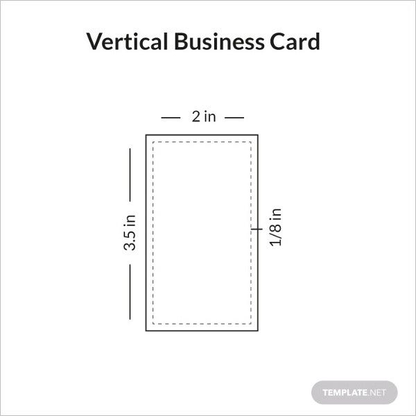 vertical business card sample infographic