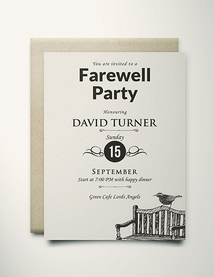 Vintage Farewell Party Invitation Format