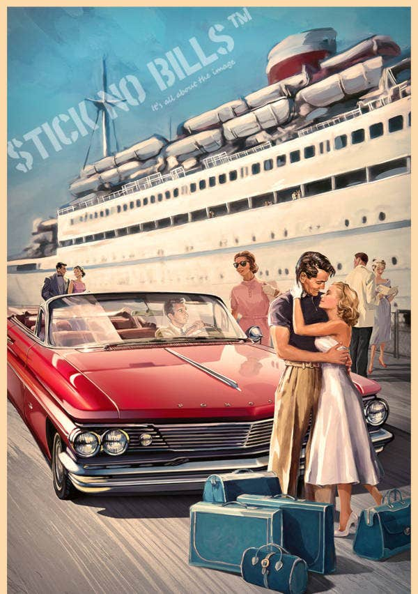 Vintage Style Travel Poster Template