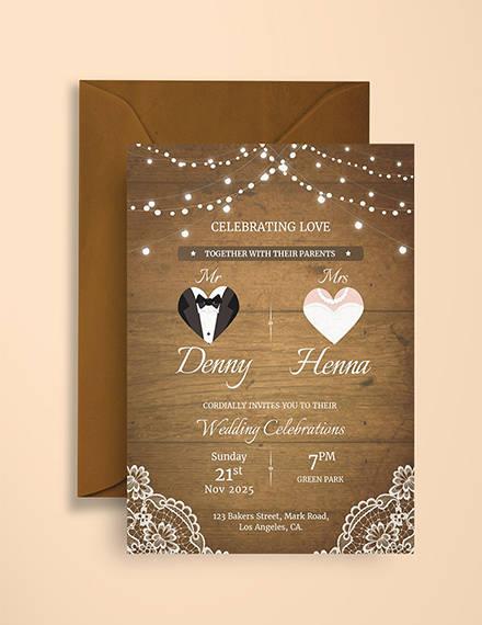 vintage wedding invitation card