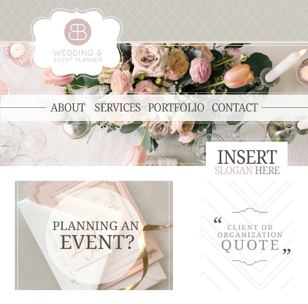 wedding event planner website template