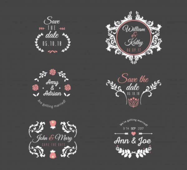 Wedding Label Sample
