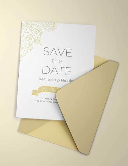 wedding save the date invitation template