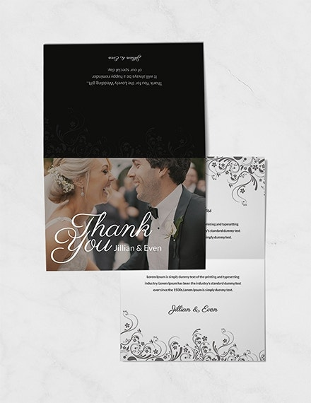 wedding thank you card template example