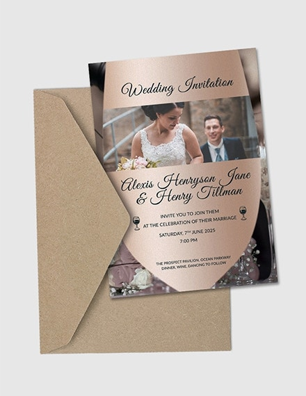 winery wedding invitation card template1