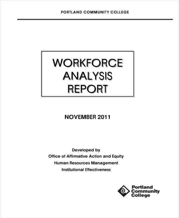 Workforce Analysis Report Sample