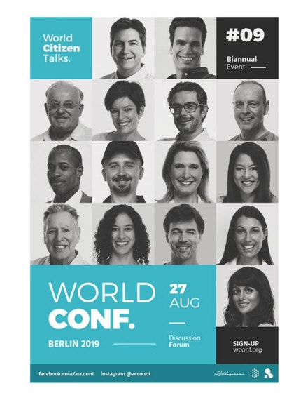 World Conference Event Flyer Template