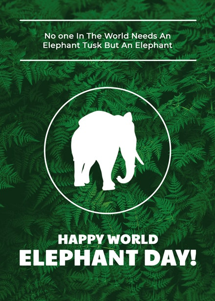 world elephant day card