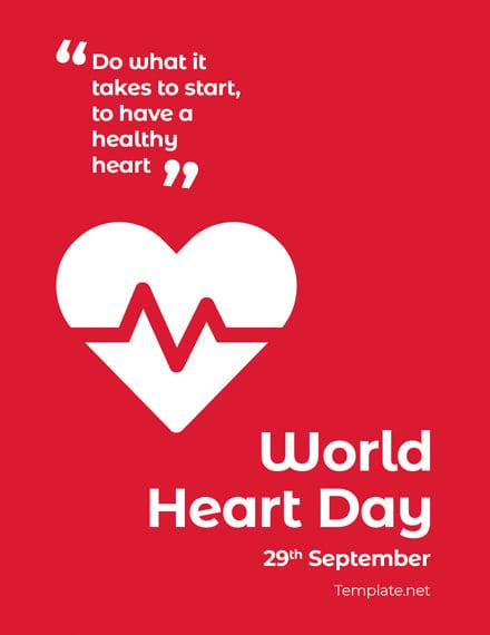 World Heart Day Greeting Card