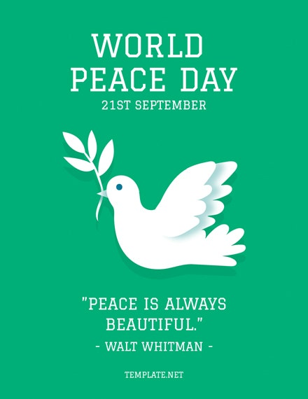 world peace day greeting card