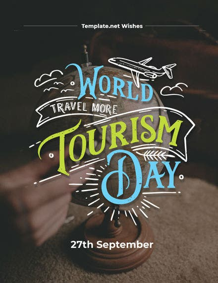 world tourism day greeting card
