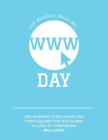world wide web day greeting card