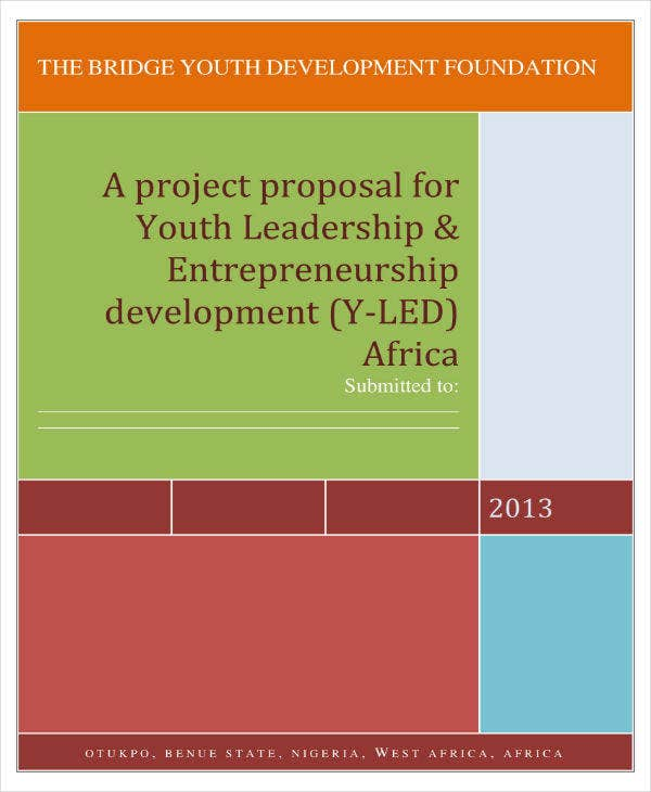 youth leadership project proposal