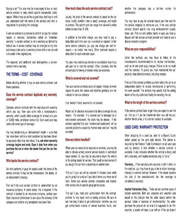 auto service contract guide 1