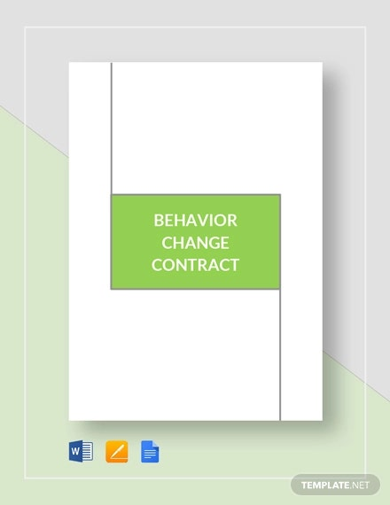 behaviour change contract