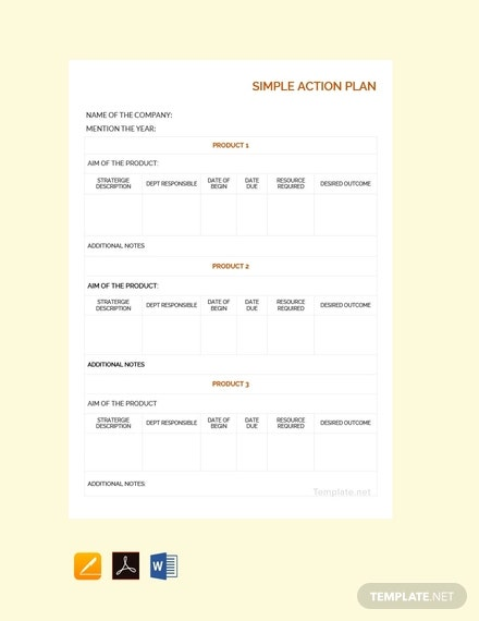 free simple action plan