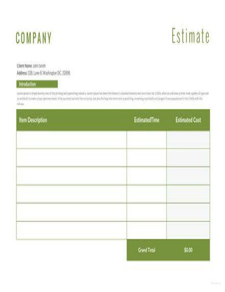 landscaping estimate template 1 440x311