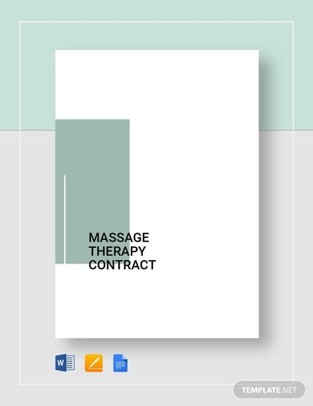 massage therapy contract