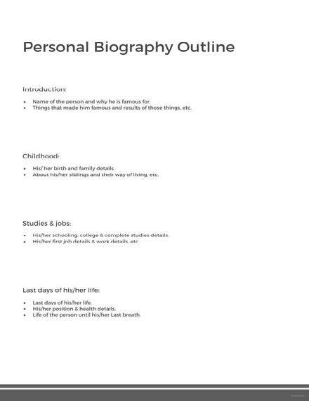 personal biography outline template 440x622