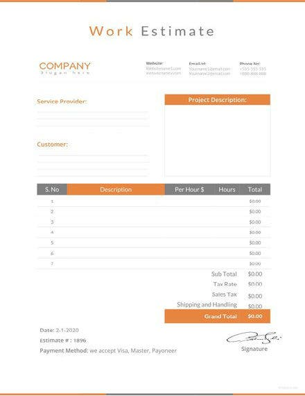work estimate template 1 440x622