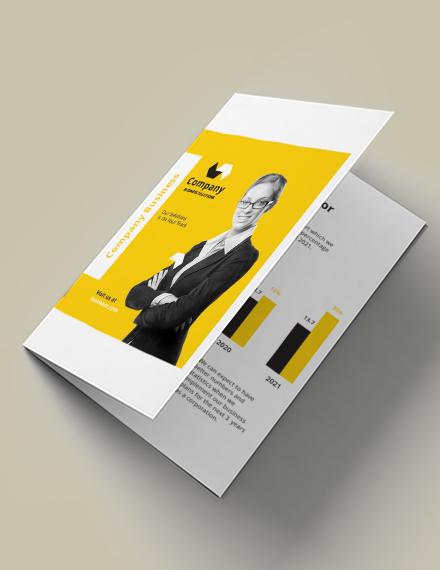 a5 half fold brochure template in illustrator