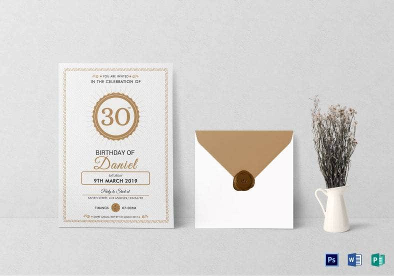 adult birthday party invitation template 788x552