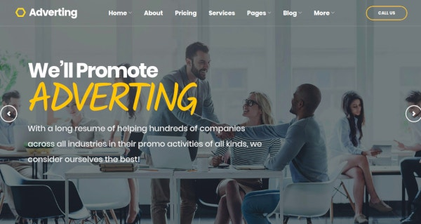 adverting marketing agency theme