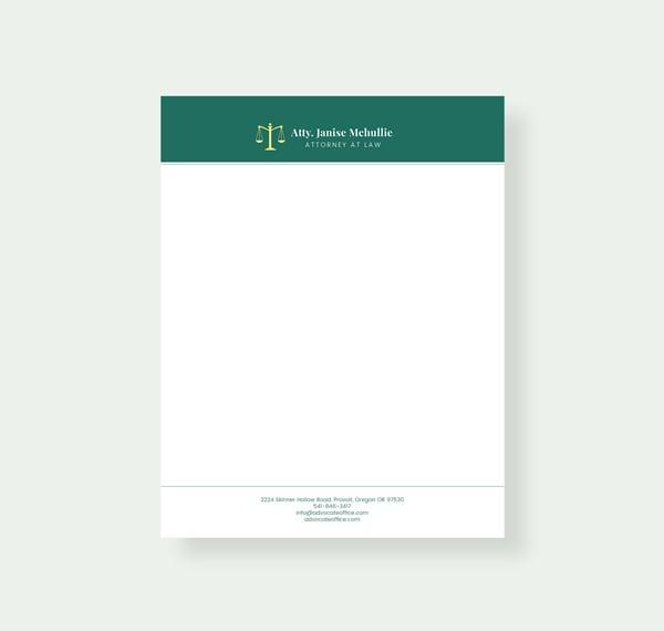 advocate letterhead template