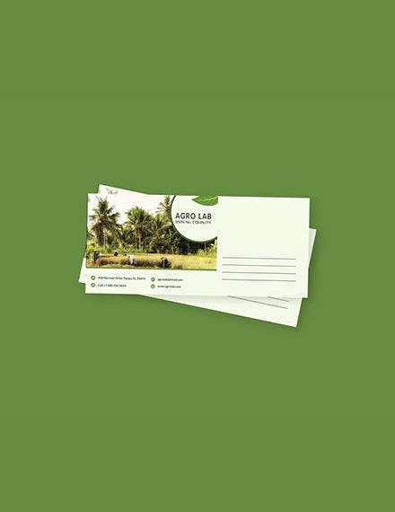 agriculture envelope template psd