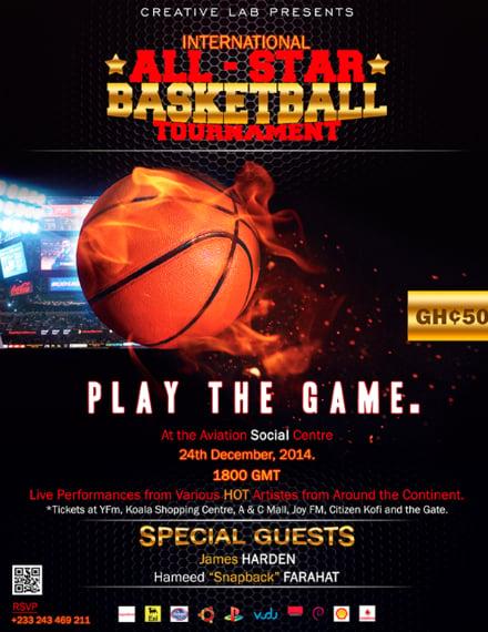 all star basketball flyer design