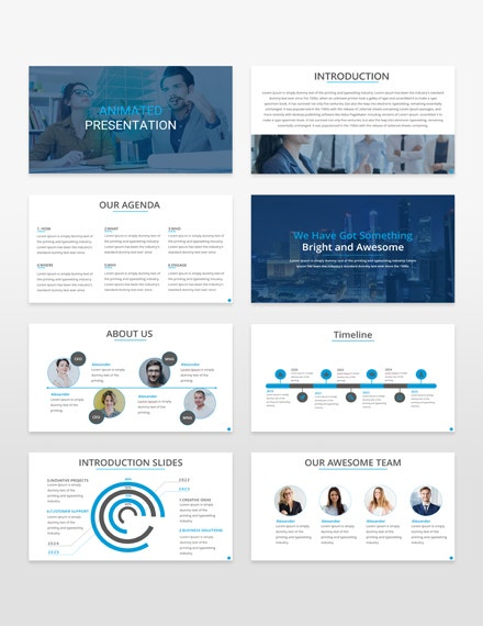 animated presentation template