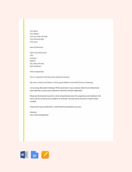 Teaching Job Covering Letter from images.template.net