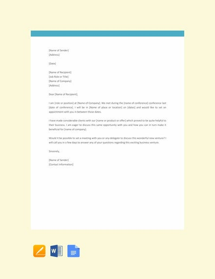appointment request letter template1