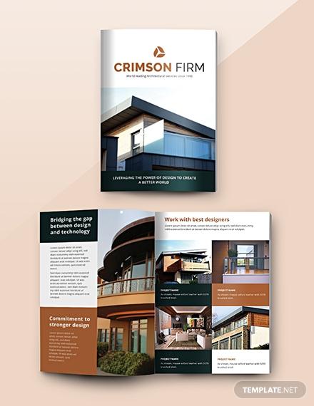 architecture catalog template psd