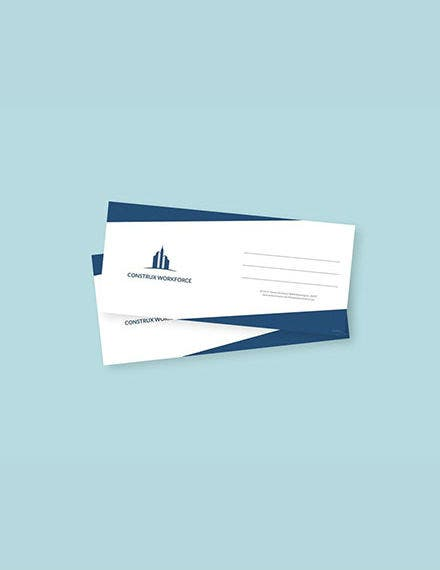 architecture envelope psd template