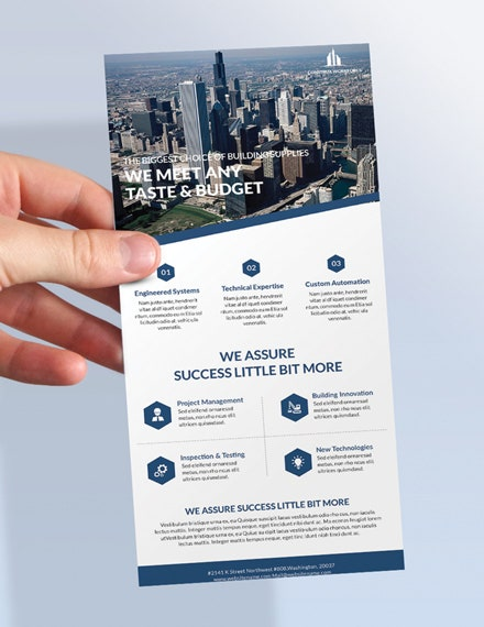 architecture rack card template