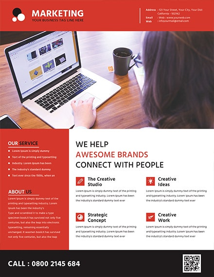 awesome brands marketing flyer template