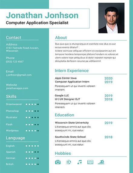 bca fresher resume template