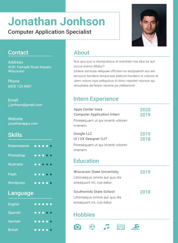 bca fresher resume template1