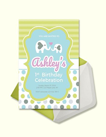 baby firsts animal birthday invitation template