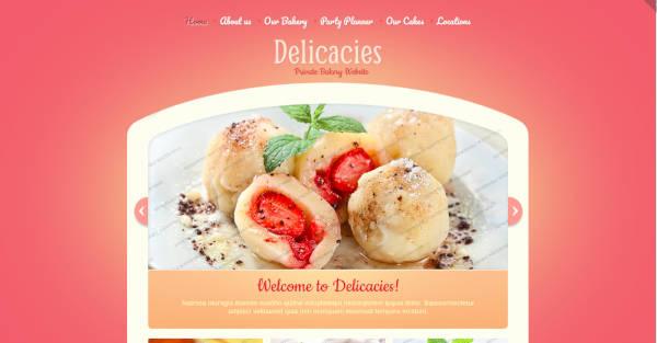 Bakery Website Theme
