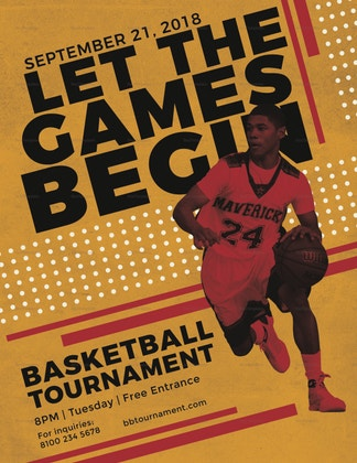 basketball game tournament flyer format