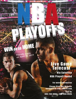 basketball playoffs event flyer template