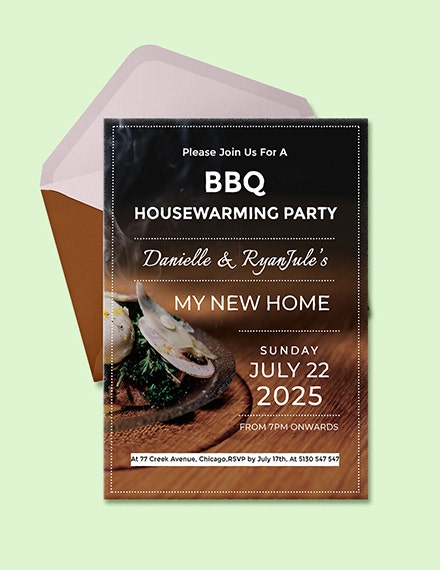 bbq housewarming party invitation template1