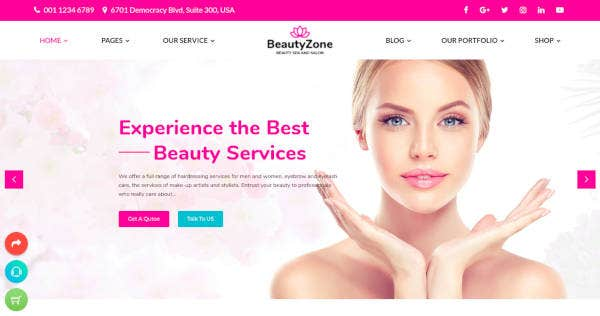 Beauty Spa Salon HTML Template
