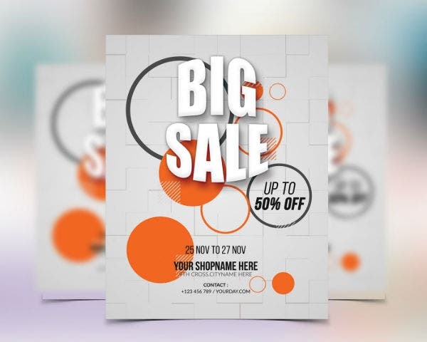 big sale flyer sample