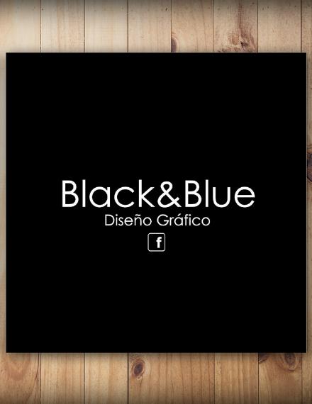 black blue minimalist brochure design
