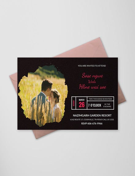 black engagement invitation card template in ms word